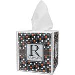Gray Dots Tissue Box Cover (Personalized)