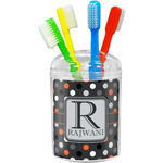 Gray Dots Toothbrush Holder (Personalized)