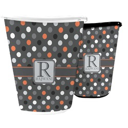 Gray Dots Waste Basket (Personalized)