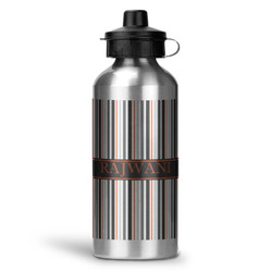 Gray Stripes Water Bottle - Aluminum - 20 oz (Personalized)