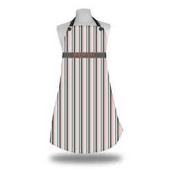 Gray Stripes Apron (Personalized)