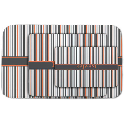 Gray Stripes Area Rug (Personalized)