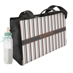 Gray Stripes Diaper Bag (Personalized)