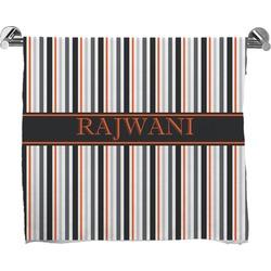 Gray Stripes Bath Towel (Personalized)