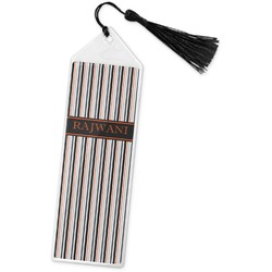 Gray Stripes Book Mark w/Tassel (Personalized)