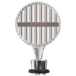 Gray Stripes Wine Bottle Stopper (Personalized)