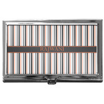 Gray Stripes Business Card Case