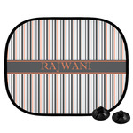 Gray Stripes Car Side Window Sun Shade (Personalized)