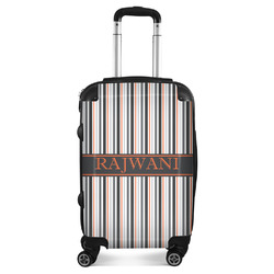 Gray Stripes Suitcase (Personalized)