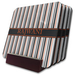 Gray Stripes Coaster Set w/ Stand (Personalized)