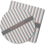 Gray Stripes Rubber Backed Coaster (Personalized)