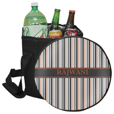 Gray Stripes Collapsible Cooler & Seat (Personalized)