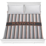 Gray Stripes Comforter (Personalized)