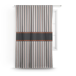 Gray Stripes Curtain (Personalized)