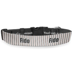 """Gray Stripes Deluxe Dog Collar - Small (8.5"""" to 12.5"""") (Personalized)"""
