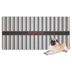 Gray Stripes Pet Towel (Personalized)