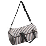 Gray Stripes Duffel Bag (Personalized)