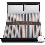 Gray Stripes Duvet Cover (Personalized)