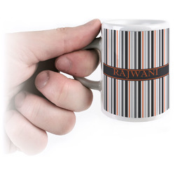 Gray Stripes Espresso Mug - 3 oz (Personalized)