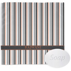 Gray Stripes Wash Cloth (Personalized)