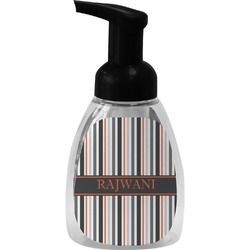 Gray Stripes Foam Soap Dispenser (Personalized)
