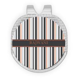 Gray Stripes Golf Ball Marker - Hat Clip
