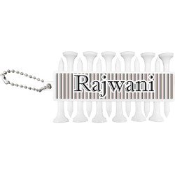Gray Stripes Golf Tees & Ball Markers Set (Personalized)