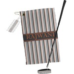 Gray Stripes Golf Towel Gift Set (Personalized)