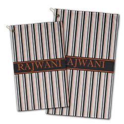 Gray Stripes Golf Towel - Full Print w/ Name or Text