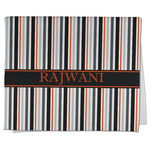 Gray Stripes Kitchen Towel - Full Print (Personalized)
