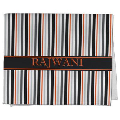 Gray Stripes Kitchen Towel - Full Print (Personalized)