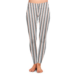 Gray Stripes Ladies Leggings (Personalized)