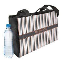 Gray Stripes Ladies Workout Bag (Personalized)