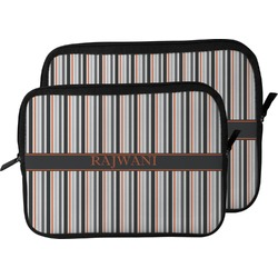 Gray Stripes Laptop Sleeve / Case (Personalized)