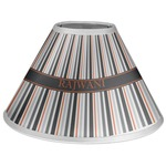Gray Stripes Coolie Lamp Shade (Personalized)