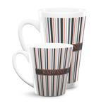 Gray Stripes Latte Mug (Personalized)
