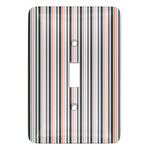 Gray Stripes Light Switch Covers (Personalized)