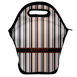 Gray Stripes Lunch Bag (Personalized)