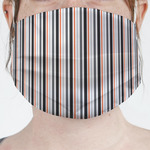 Gray Stripes Face Mask Cover (Personalized)