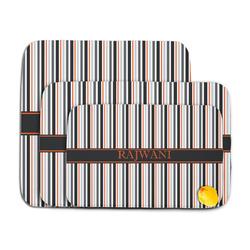 Gray Stripes Memory Foam Bath Mat (Personalized)