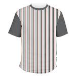 Gray Stripes Men's Crew T-Shirt (Personalized)