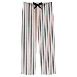 Gray Stripes Mens Pajama Pants (Personalized)