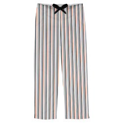 Gray Stripes Mens Pajama Pants (Personalized)