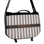 Gray Stripes Messenger Bag (Personalized)