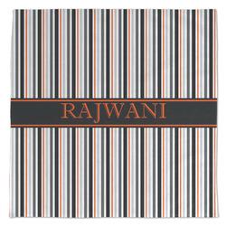 Gray Stripes Large Microfiber Dish Rag (Personalized)