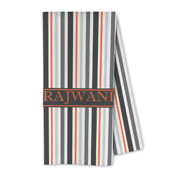 Gray Stripes Microfiber Kitchen Towel (Personalized)
