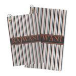 Gray Stripes Microfiber Golf Towel (Personalized)