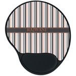 Gray Stripes Mouse Pad with Wrist Support