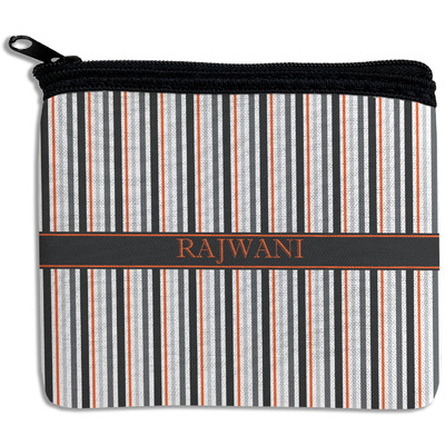 Gray Stripes Rectangular Coin Purse (Personalized)