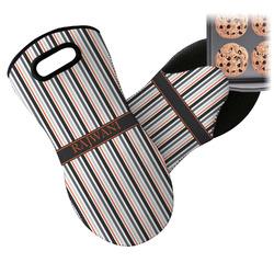 Gray Stripes Neoprene Oven Mitt (Personalized)